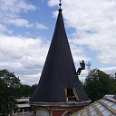 Work at height, roof structure construction