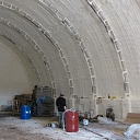 hangar insulation with polyurethane