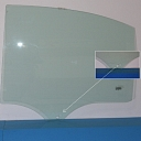 3359LGNH5RDFIAT PANDA 2 03 12  Car Door Window   Auto Glass Green   Rear Left   1Holes   wo Accessories