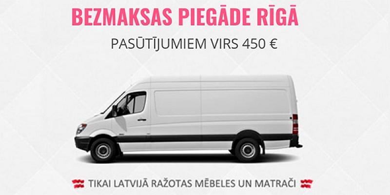 Dīvāni, gultas, matrači. Bezmaksas piegāde visā Latvijā: www.erti.lv, zvani +371 26884449