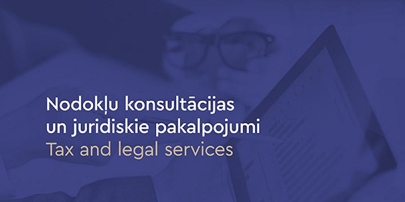 Nodokļu konsultācijas un juridiskie pakalpojumi
