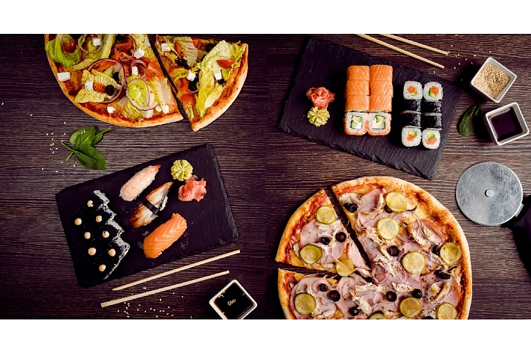 Mārupes Pizza. Pizzas and sushi
