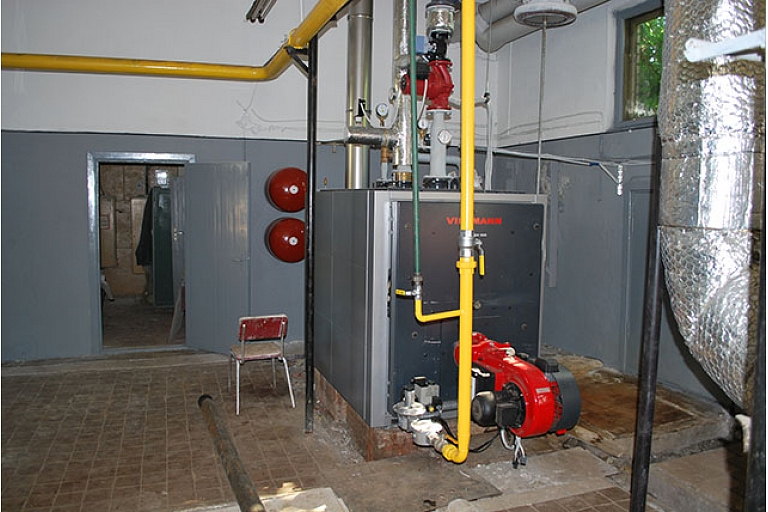 Installation of heating boilers