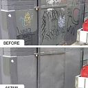 Grafiti krāsas, before and after, marine care baltic