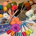 Yarn, needles, crochet hooks