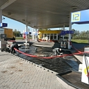 Geosynthetic materials installation in fuel filling stations