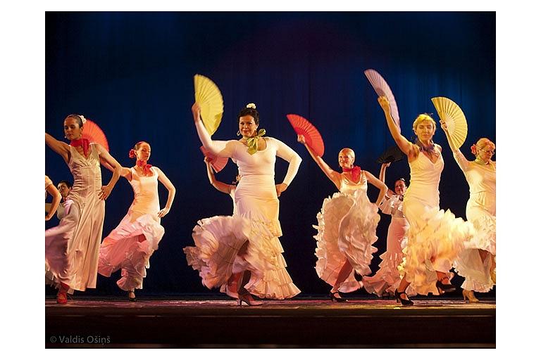 Deju apmācība: flamenko, vēderdeja