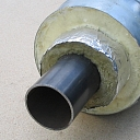 Insulated steel pipes with double-layer insulation