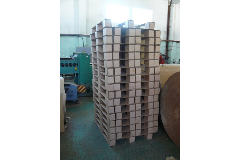 Corrugated cardboard packaging upon size
