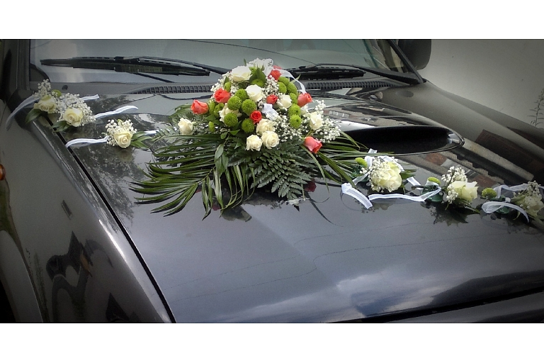 Wedding car decoration in Jelgava