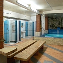 Well-equipped bathhouse with pool in Kengarags