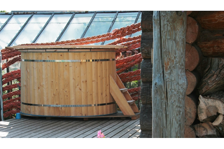 Recreation in fisherman house with sauna