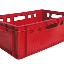 Plastic box for meat products