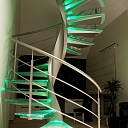 Qualitative glass stairs