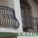 Curved metal railings