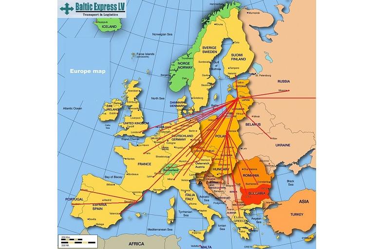 Autokravu pārvadājumi Eiropā