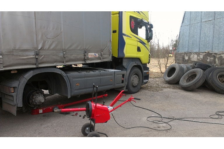 Truck tyres, Marupe, Airport