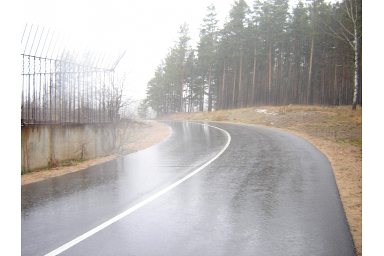 Road construction in Latgale
