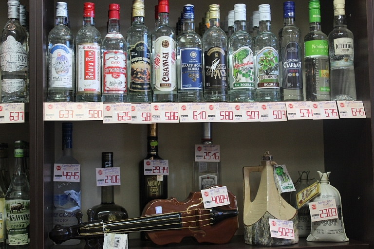 Alcohol retail in Jurmala