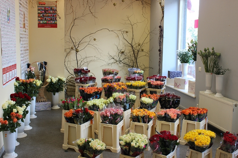 Great selection of fresh flowers in Riga