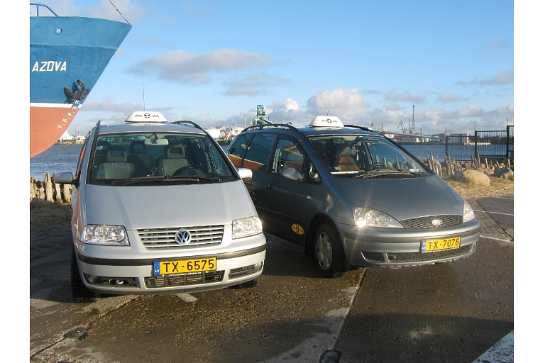 Taxi services in Ventspils city, district, in Latvia