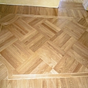 Parquet from oak and ash wood grown in Latvia