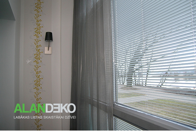 ALANDEKO day curtains in combination with blinds