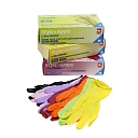 Colourful nitrile gloves for medicine, dentistry and food processing