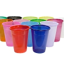 Colourful polypropylene PP cups