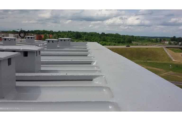 Betona jumta remonts hidroizolācija