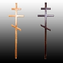 Mourning ceremony. Crosses, plaques, plates for cross