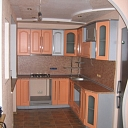 Facade of the kitchen cabinets