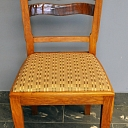 20th century beginning solid oak chair.