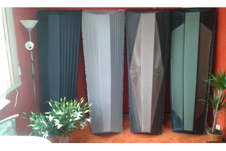 Coffins, coffin covers, candles