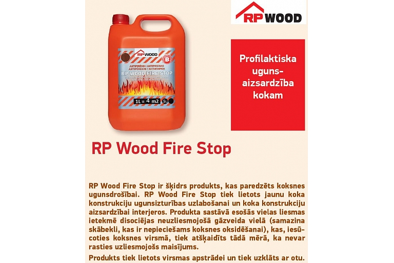 Wood protection against fire