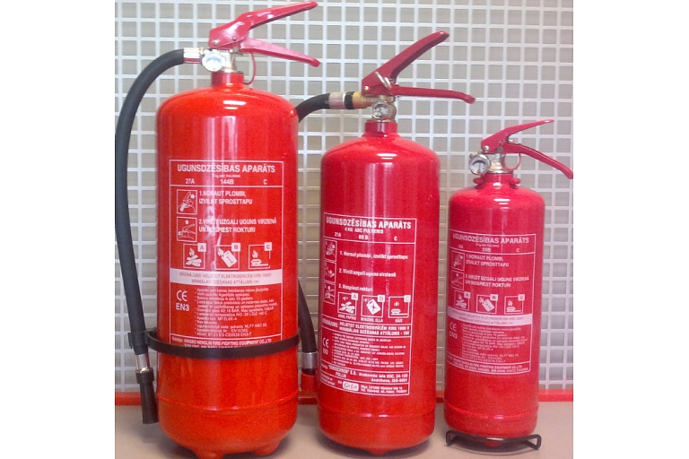 Fire extinguishers inventory fire alarm Valmiera Cēsis Smiltene Riga
