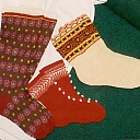 Wool sock knitting, Folk costumes for individual and collectibles, Textiles