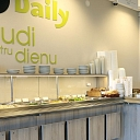 Cafe Daily counter. Culinary and confectionery production, sale