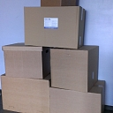 Cardboard boxes for transportation of goods