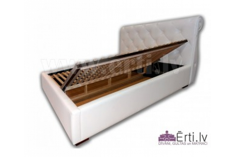 Eco-leather bed with laundry box
