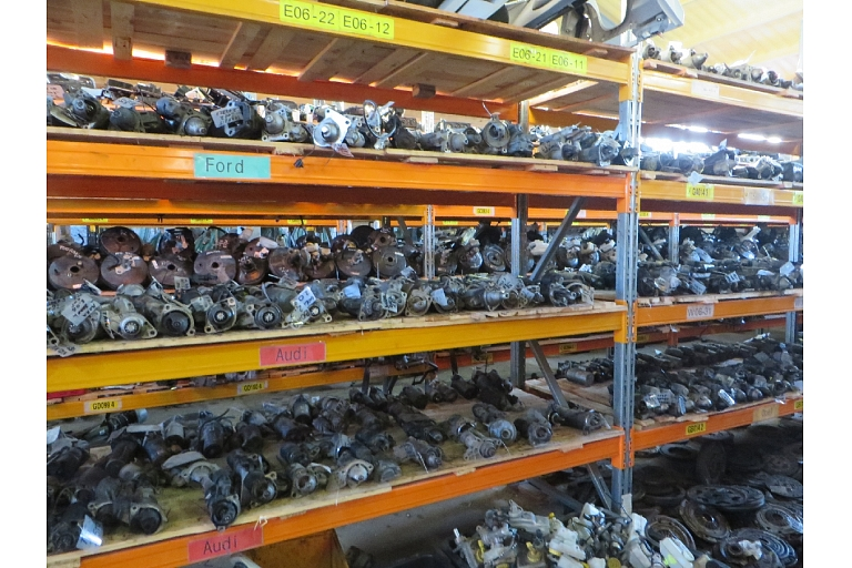 A wide selection of spare parts