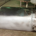 Pipe cleaning, cleaning with soda blasting