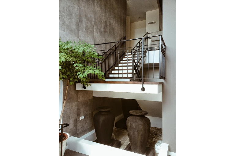 Forgings for a private house in the vicinity of Frankfurt (internal stair railings)