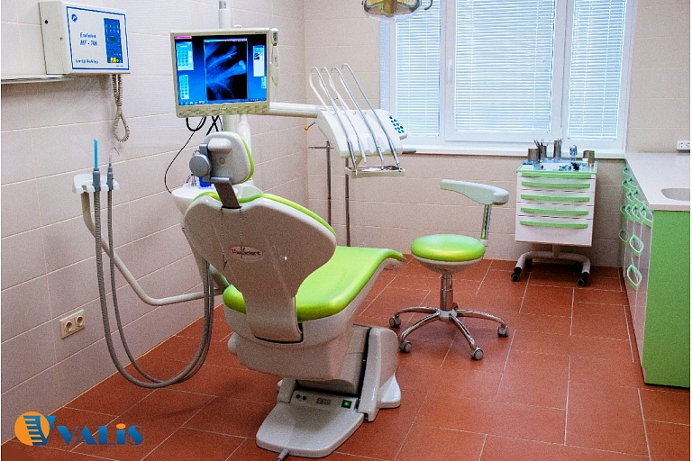 Teeth repair, treatment, extraction and prosthetics in modern dental office