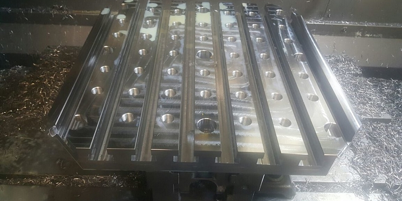 Production of bulky parts on CNC milling machine