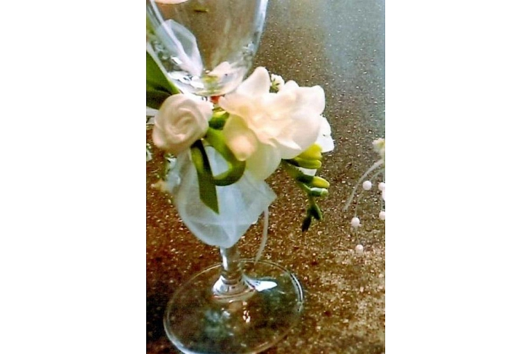 Glass vases and decorative candles
