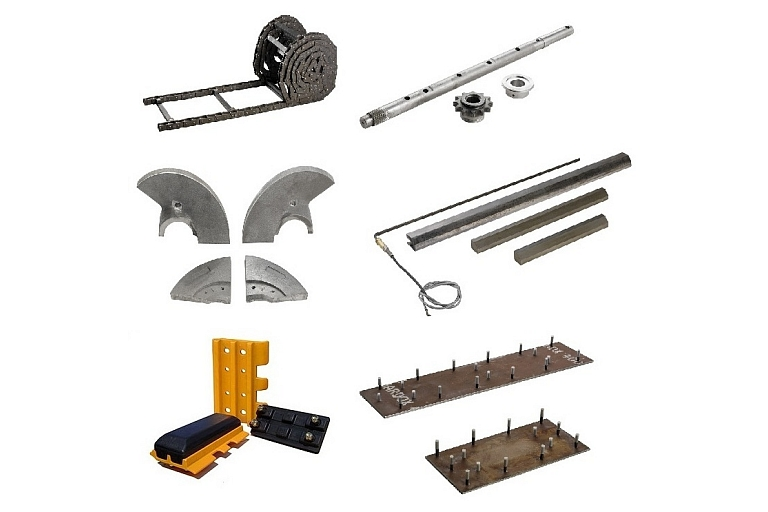 Spare parts for asphalt pavers, mills and other road construction equipment