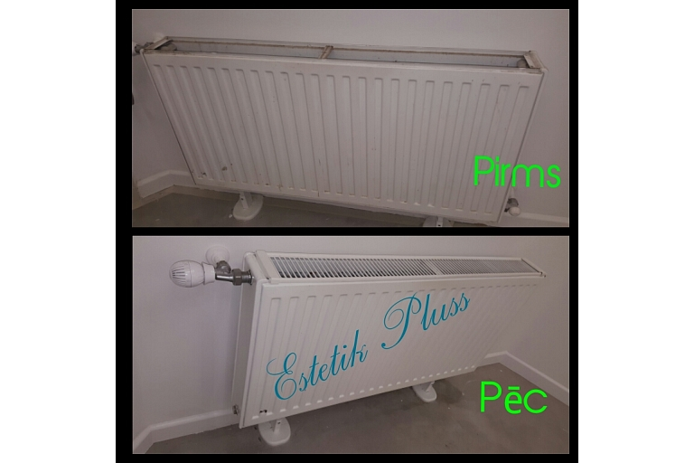 Radiator cleaning with steam, cleaning services