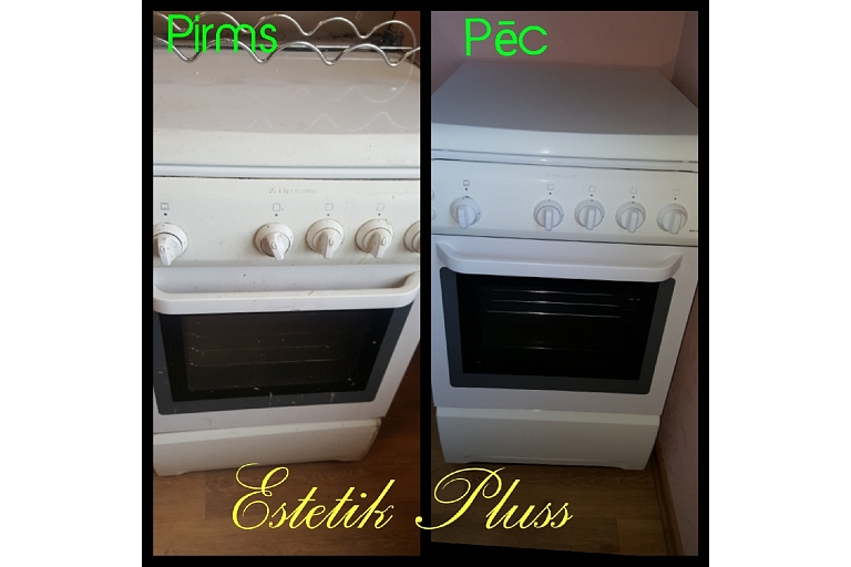 General cleaning after tenants, stove cleaning