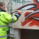 Grafiti un citu krāsojumu saudzīga tīrīšana